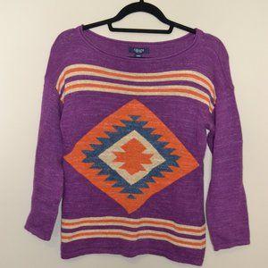 Small Chaps Purple Aztec Sweater
